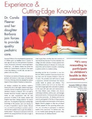 Scene Magazine Article - Quality Pediatric Carw